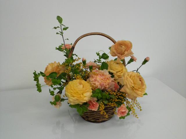 自分で花を選んで